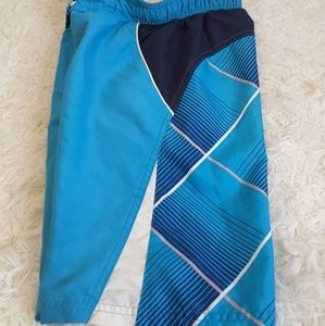 3/$15 OP aqua striped board shorts swim trunks 3T